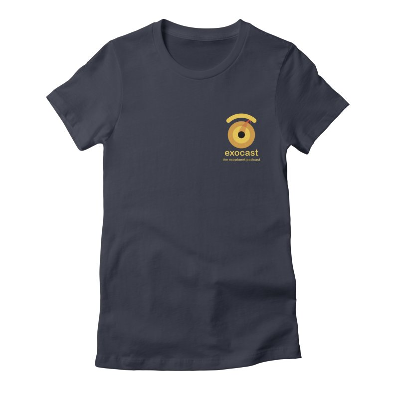 exocast small logo Women's T-Shirt by exocast the exoplanet podcast store