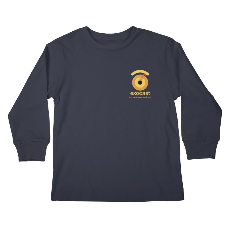 exocast small logo Kids Longsleeve T-Shirt by exocast the exoplanet podcast store