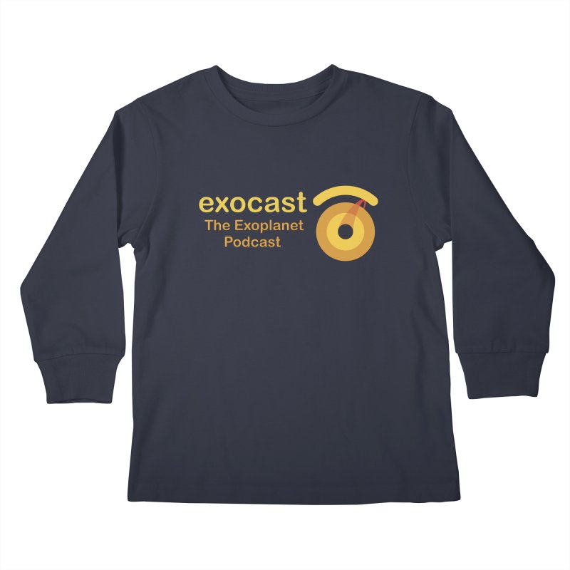 Exocast Clothing Kids Longsleeve T-Shirt by exocast the exoplanet podcast store