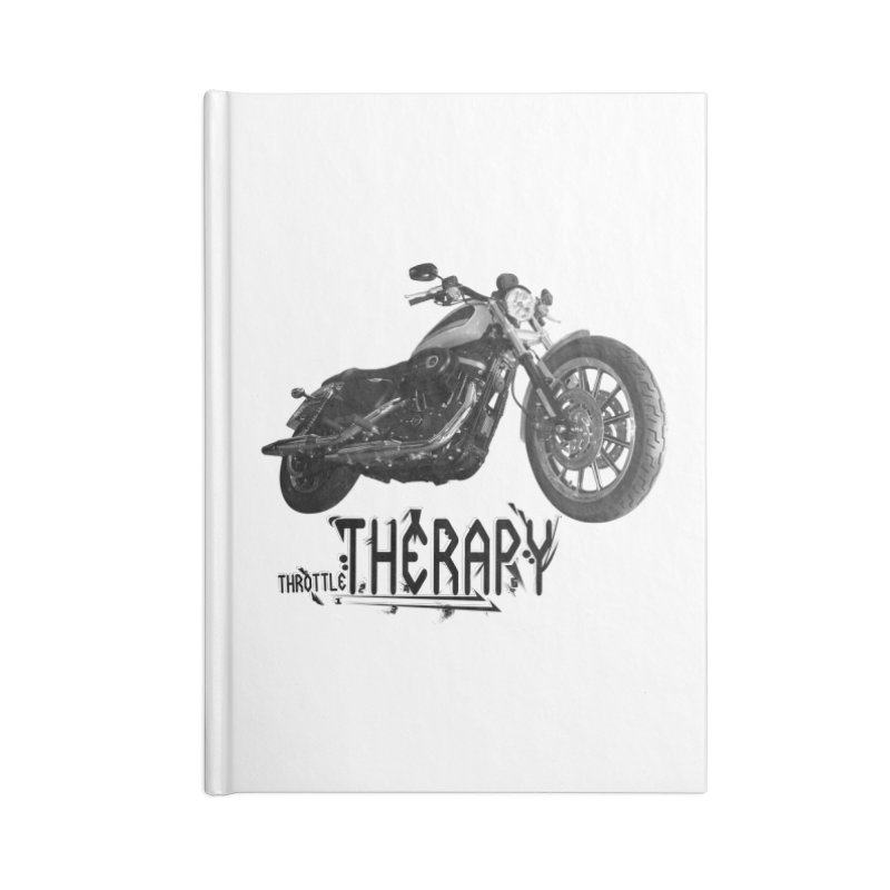 THROTTLE THERAPY Accessories Blank Journal Notebook by ExploreDaily's Artist Shop