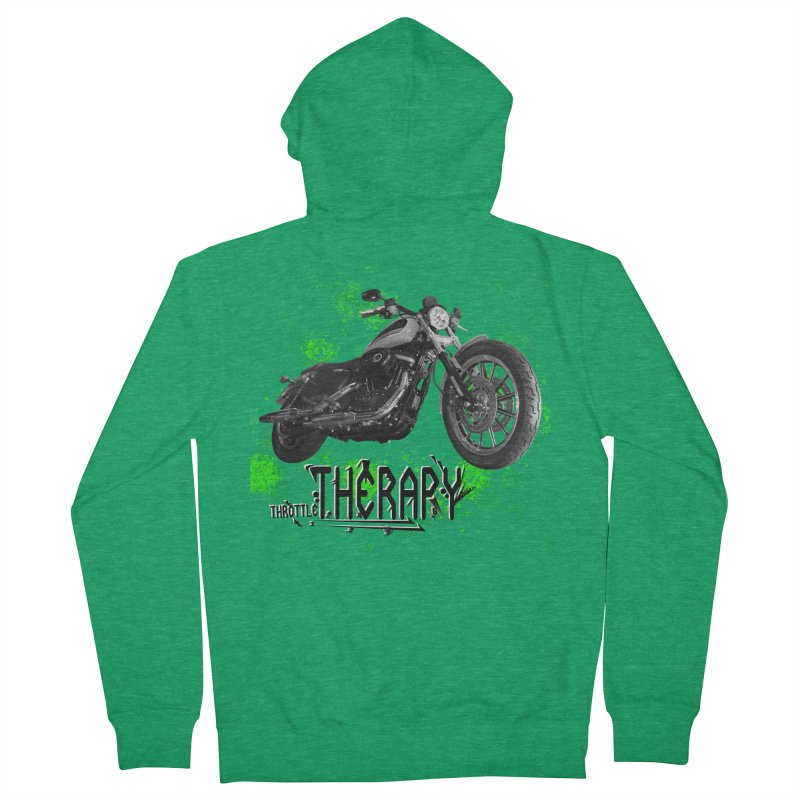 THROTTLE THERAPY STREET SPLATTER Men's French Terry Zip-Up Hoody by ExploreDaily's Artist Shop