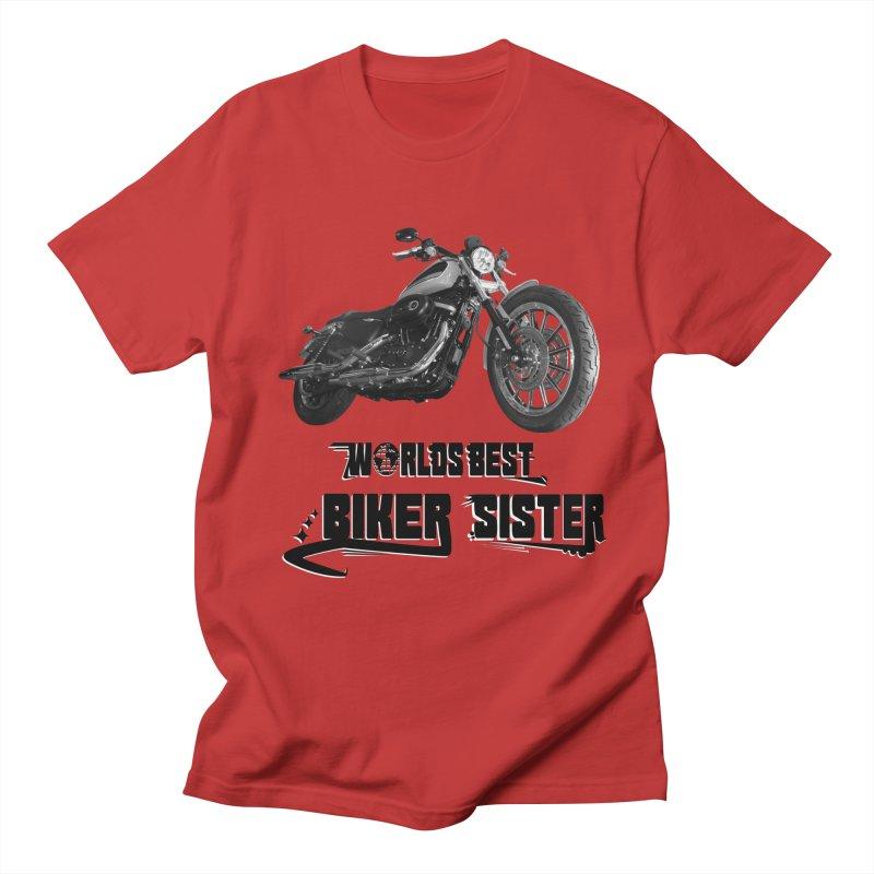 WORLDS BEST BIKER SISTER Men's Regular T-Shirt by ExploreDaily's Artist Shop