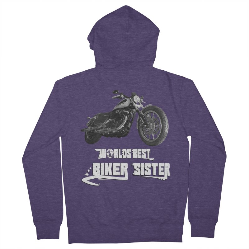 WORLDS BEST SISTER Men's French Terry Zip-Up Hoody by ExploreDaily's Artist Shop