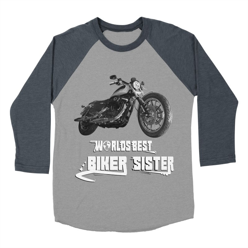 WORLDS BEST SISTER Women's Baseball Triblend Longsleeve T-Shirt by ExploreDaily's Artist Shop