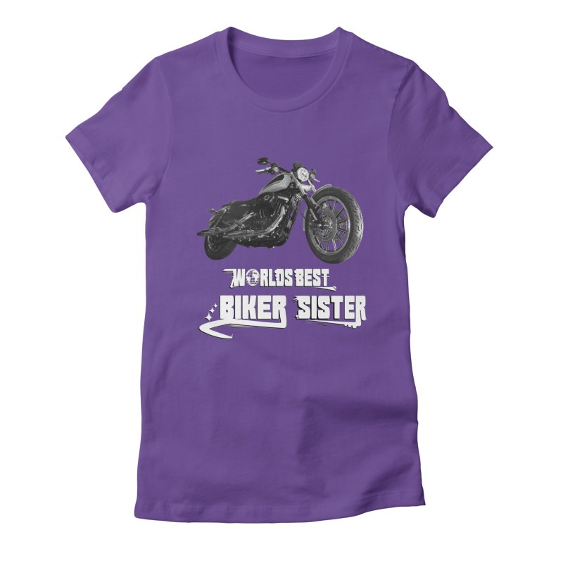 WORLDS BEST SISTER Women's Fitted T-Shirt by ExploreDaily's Artist Shop