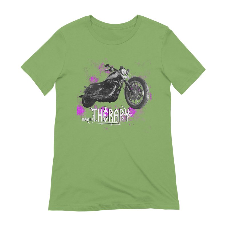 THROTTLE THERAPY SPLAT Women's Extra Soft T-Shirt by ExploreDaily's Artist Shop