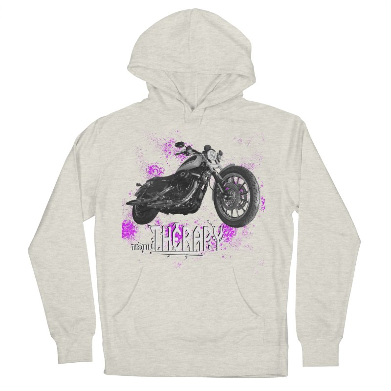 THROTTLE THERAPY SPLAT Women's French Terry Pullover Hoody by ExploreDaily's Artist Shop