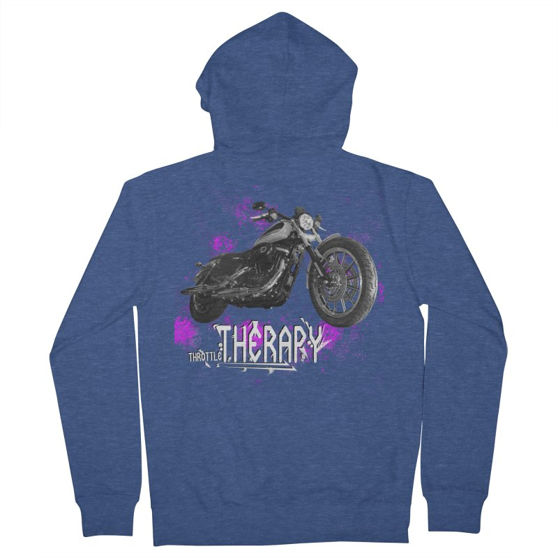 THROTTLE THERAPY SPLAT Men's French Terry Zip-Up Hoody by ExploreDaily's Artist Shop