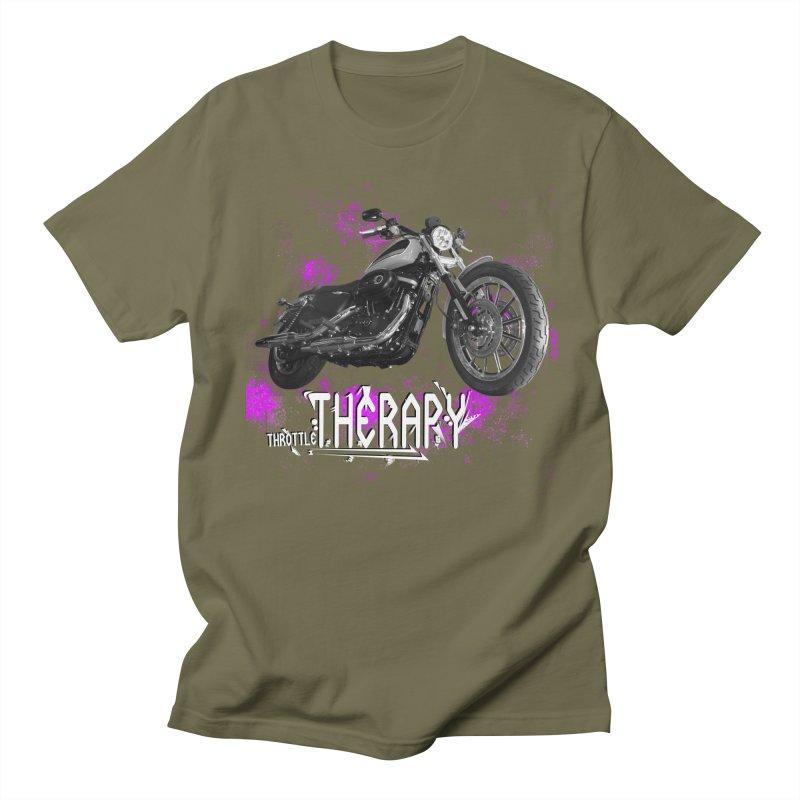THROTTLE THERAPY SPLAT Men's Regular T-Shirt by ExploreDaily's Artist Shop
