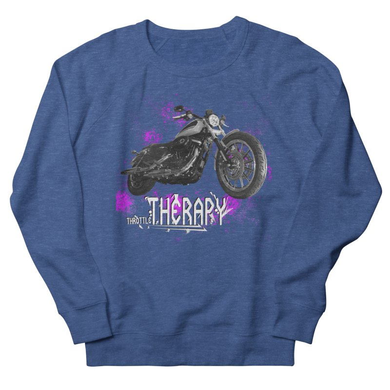 THROTTLE THERAPY SPLAT Women's French Terry Sweatshirt by ExploreDaily's Artist Shop