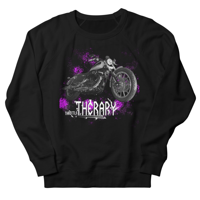 THROTTLE THERAPY SPLAT Men's French Terry Sweatshirt by ExploreDaily's Artist Shop