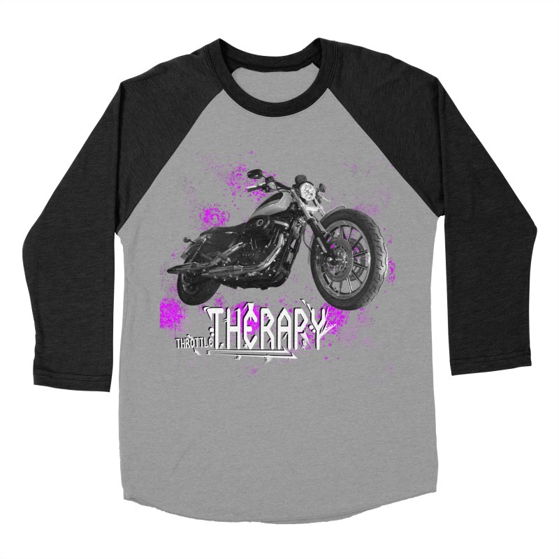 THROTTLE THERAPY SPLAT Women's Baseball Triblend Longsleeve T-Shirt by ExploreDaily's Artist Shop