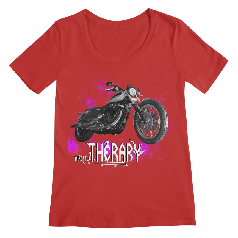 THROTTLE THERAPY SPLAT Women's Regular Scoop Neck by ExploreDaily's Artist Shop