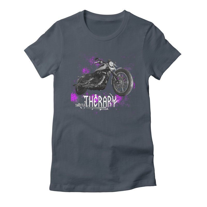 THROTTLE THERAPY SPLAT Women's Fitted T-Shirt by ExploreDaily's Artist Shop