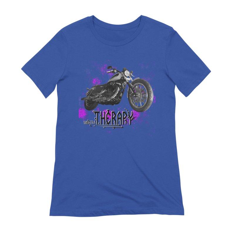 throttle therapy splatter 2 Women's Extra Soft T-Shirt by ExploreDaily's Artist Shop