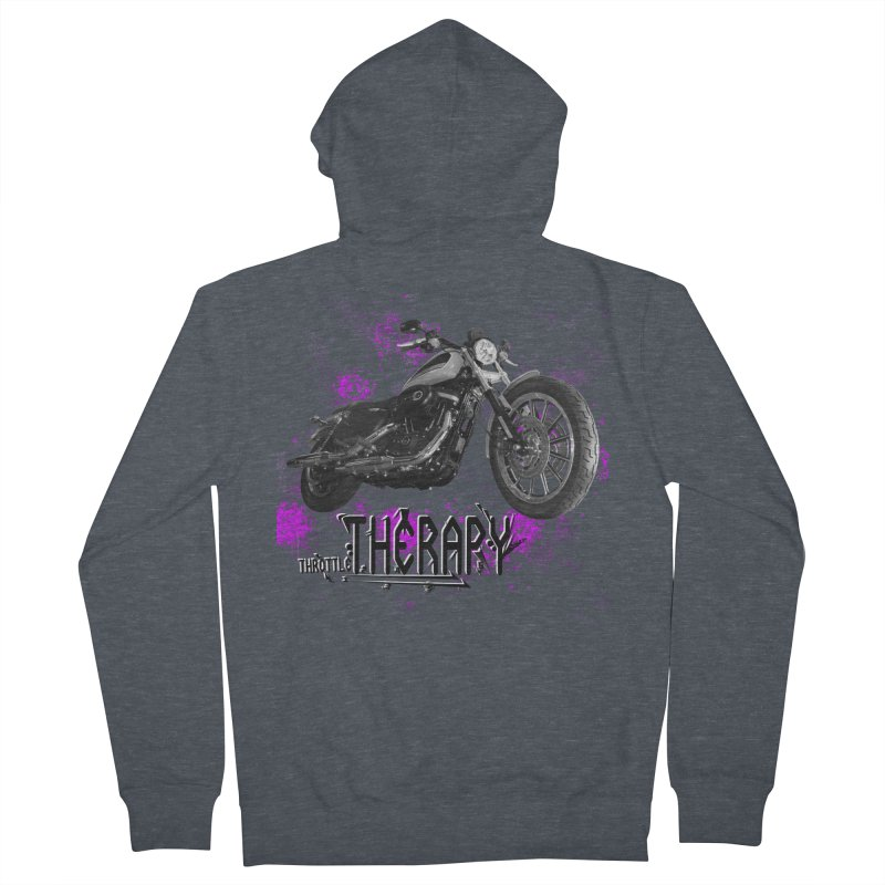 throttle therapy splatter 2 Men's French Terry Zip-Up Hoody by ExploreDaily's Artist Shop