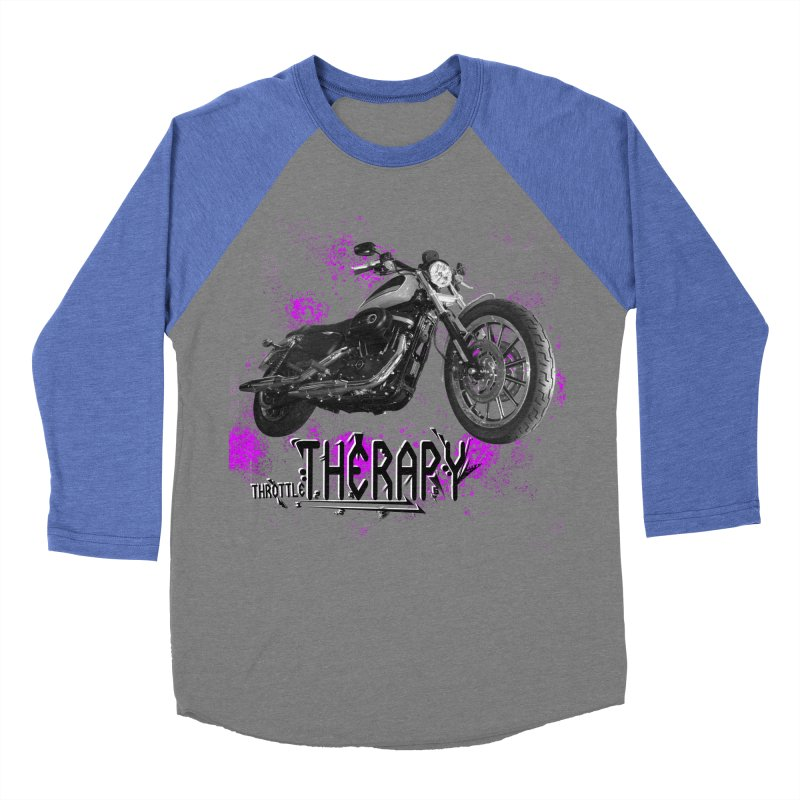 throttle therapy splatter 2 Women's Baseball Triblend Longsleeve T-Shirt by ExploreDaily's Artist Shop