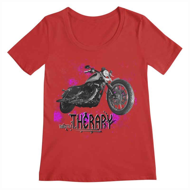 throttle therapy splatter 2 Women's Regular Scoop Neck by ExploreDaily's Artist Shop