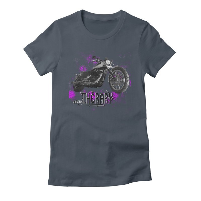 throttle therapy splatter 2 Women's Fitted T-Shirt by ExploreDaily's Artist Shop