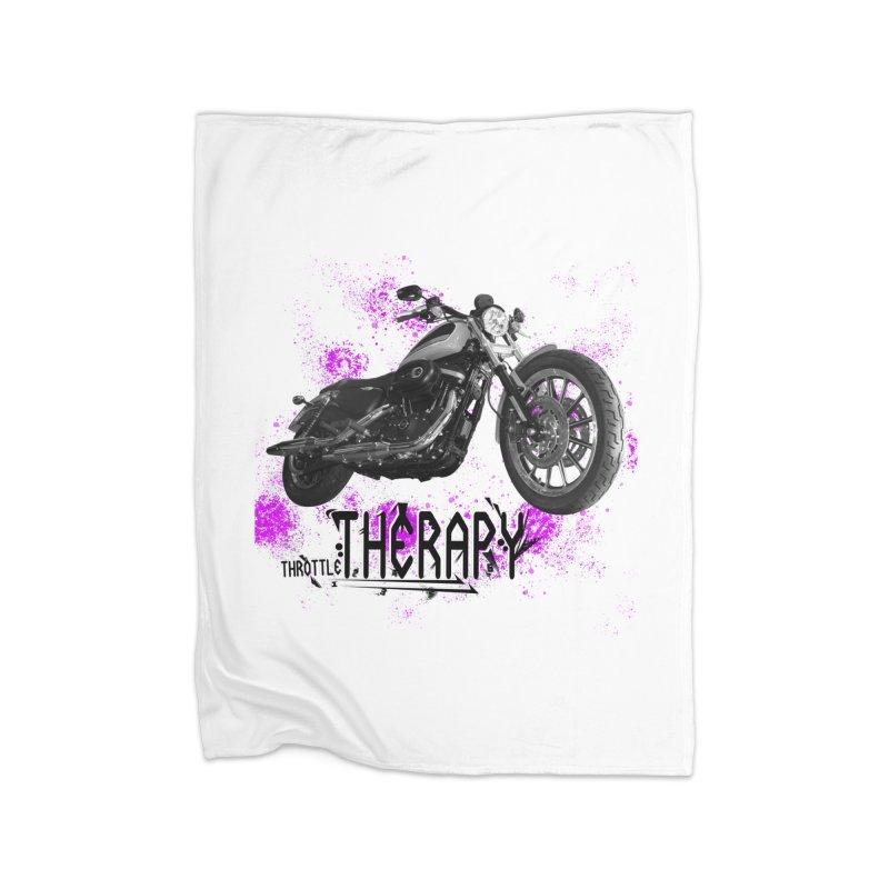 throttle therapy splatter 2 Home Fleece Blanket Blanket by ExploreDaily's Artist Shop