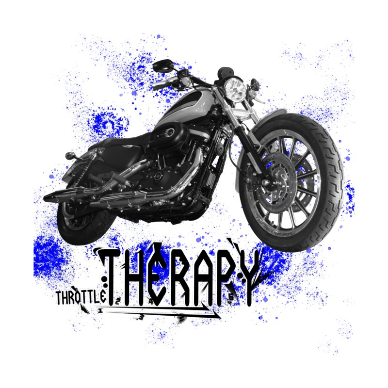 THROTTLE THERAPY BLUE SPLAT UNO by ExploreDaily's Artist Shop