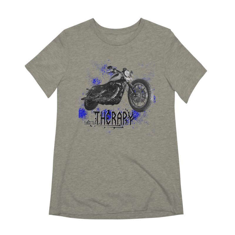 THROTTLE THERAPY BLUE SPLAT UNO Women's Extra Soft T-Shirt by ExploreDaily's Artist Shop