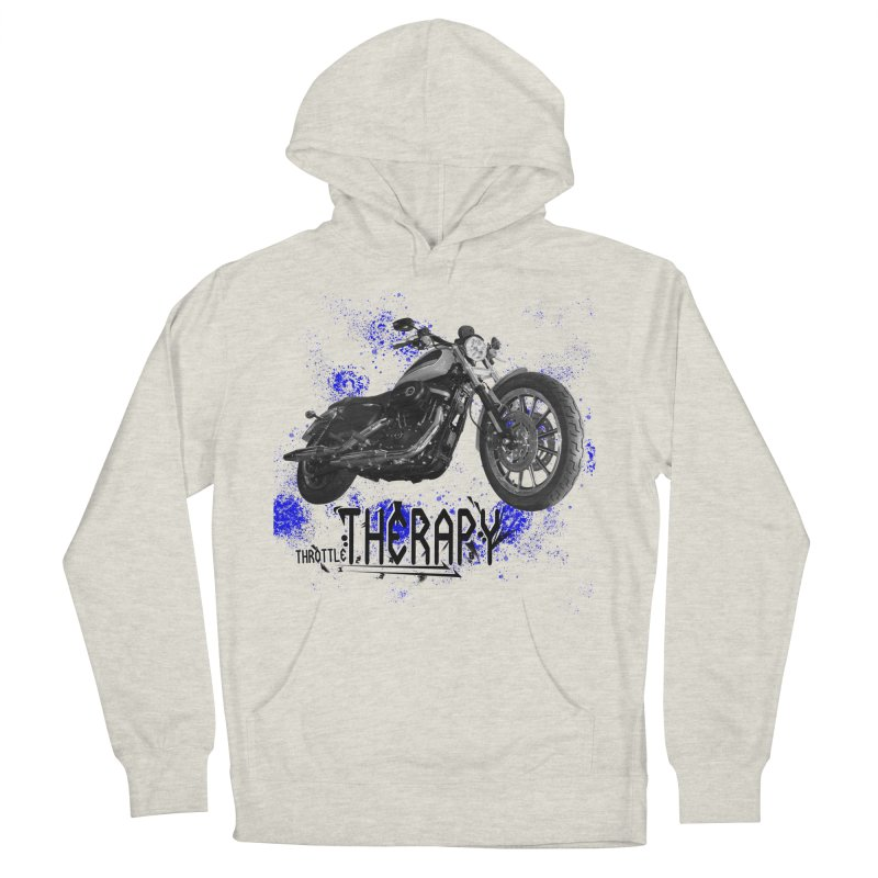 THROTTLE THERAPY BLUE SPLAT UNO Women's French Terry Pullover Hoody by ExploreDaily's Artist Shop