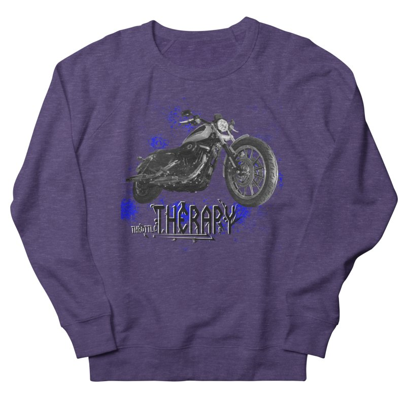 THROTTLE THERAPY BLUE SPLAT UNO Men's French Terry Sweatshirt by ExploreDaily's Artist Shop