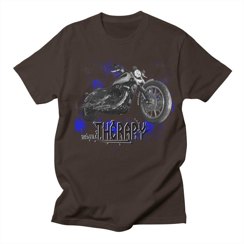 THROTTLE THERAPY BLUE SPLAT UNO Men's Regular T-Shirt by ExploreDaily's Artist Shop