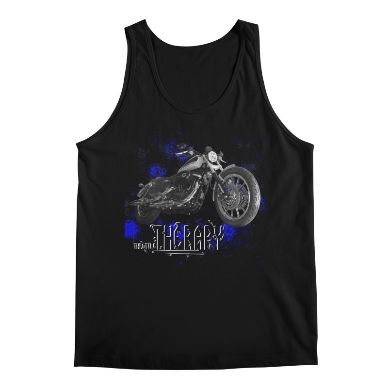 THROTTLE THERAPY BLUE SPLAT UNO Men's Regular Tank by ExploreDaily's Artist Shop