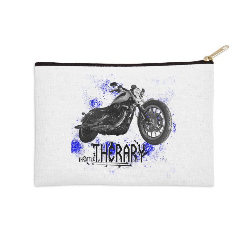 THROTTLE THERAPY BLUE SPLAT UNO Accessories Zip Pouch by ExploreDaily's Artist Shop