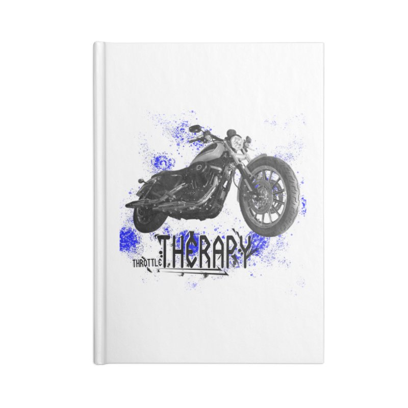 THROTTLE THERAPY BLUE SPLAT UNO Accessories Blank Journal Notebook by ExploreDaily's Artist Shop