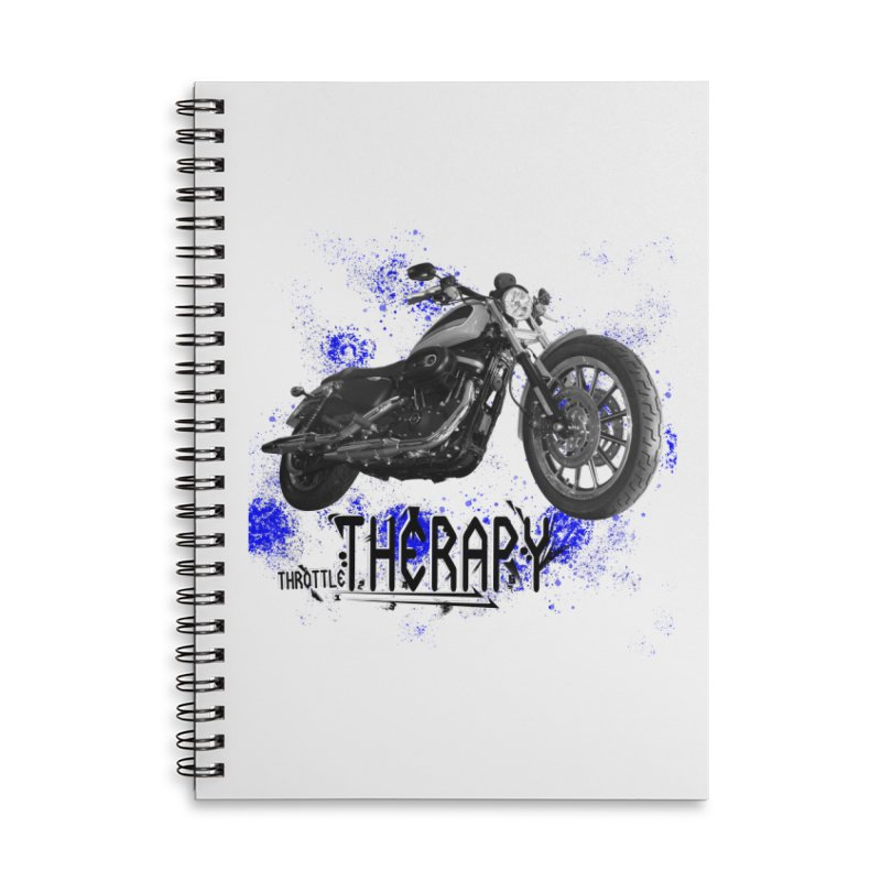 THROTTLE THERAPY BLUE SPLAT UNO Accessories Lined Spiral Notebook by ExploreDaily's Artist Shop