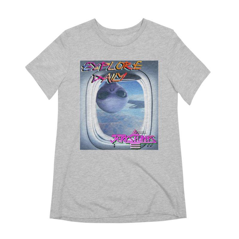 ALIEN EXPLORER JERKSTUNTS Women's Extra Soft T-Shirt by ExploreDaily's Artist Shop