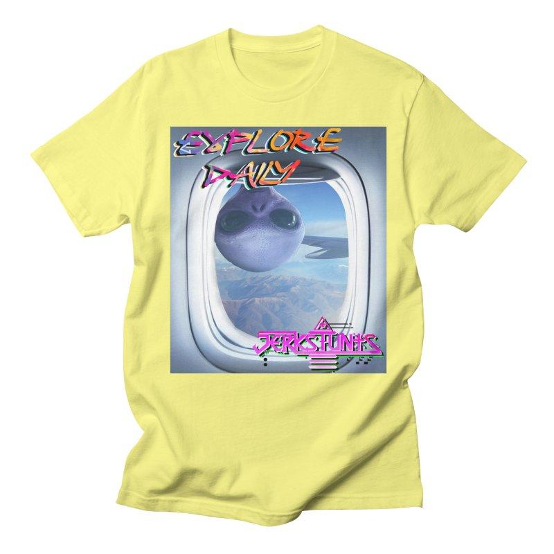ALIEN EXPLORER JERKSTUNTS Men's Regular T-Shirt by ExploreDaily's Artist Shop