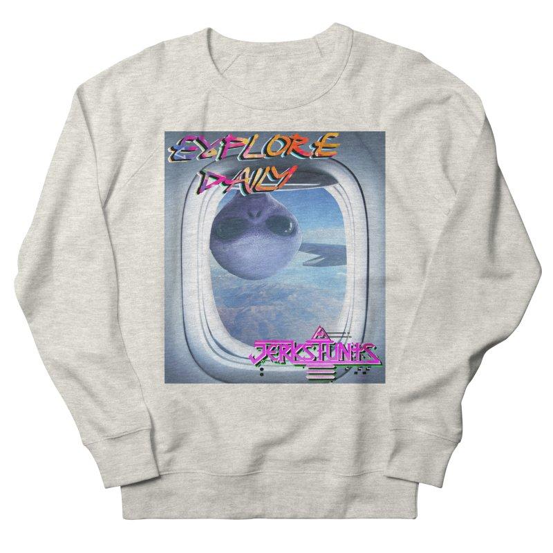 ALIEN EXPLORER JERKSTUNTS Women's French Terry Sweatshirt by ExploreDaily's Artist Shop