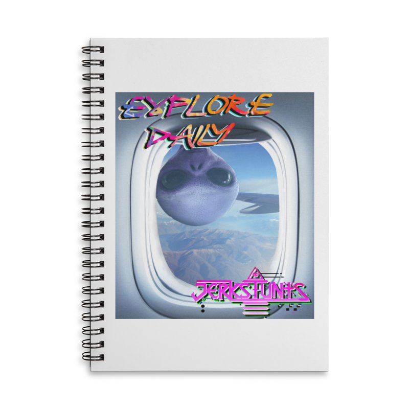 ALIEN EXPLORER JERKSTUNTS Accessories Lined Spiral Notebook by ExploreDaily's Artist Shop