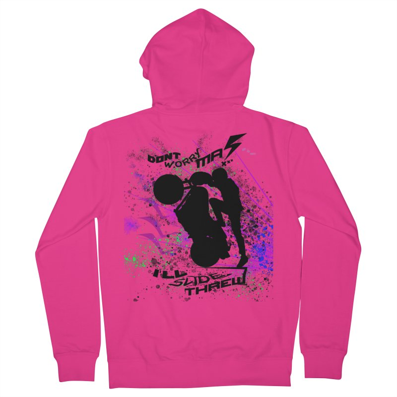 DONT WORRY MA I'LL SLIDE THREW Men's French Terry Zip-Up Hoody by ExploreDaily's Artist Shop