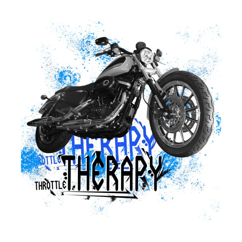 THROTTLE THERAPY CYBER BLUE by ExploreDaily's Artist Shop