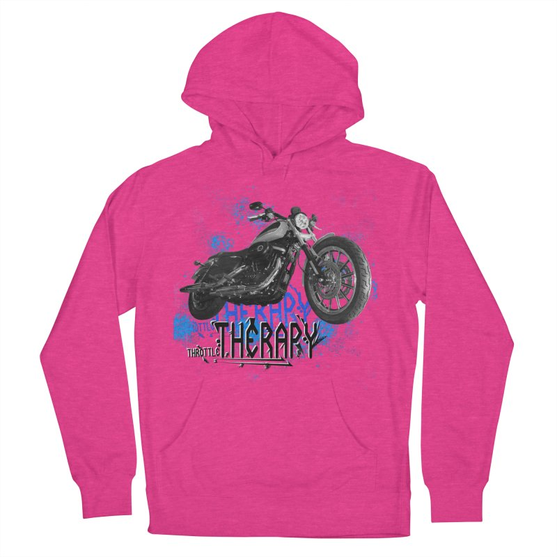 THROTTLE THERAPY CYBER BLUE Women's French Terry Pullover Hoody by ExploreDaily's Artist Shop