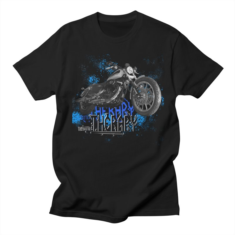 THROTTLE THERAPY CYBER BLUE Women's Regular Unisex T-Shirt by ExploreDaily's Artist Shop
