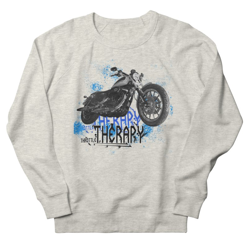 THROTTLE THERAPY CYBER BLUE Women's French Terry Sweatshirt by ExploreDaily's Artist Shop