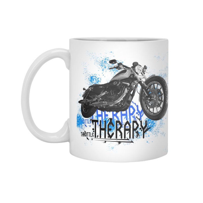 THROTTLE THERAPY CYBER BLUE Accessories Standard Mug by ExploreDaily's Artist Shop