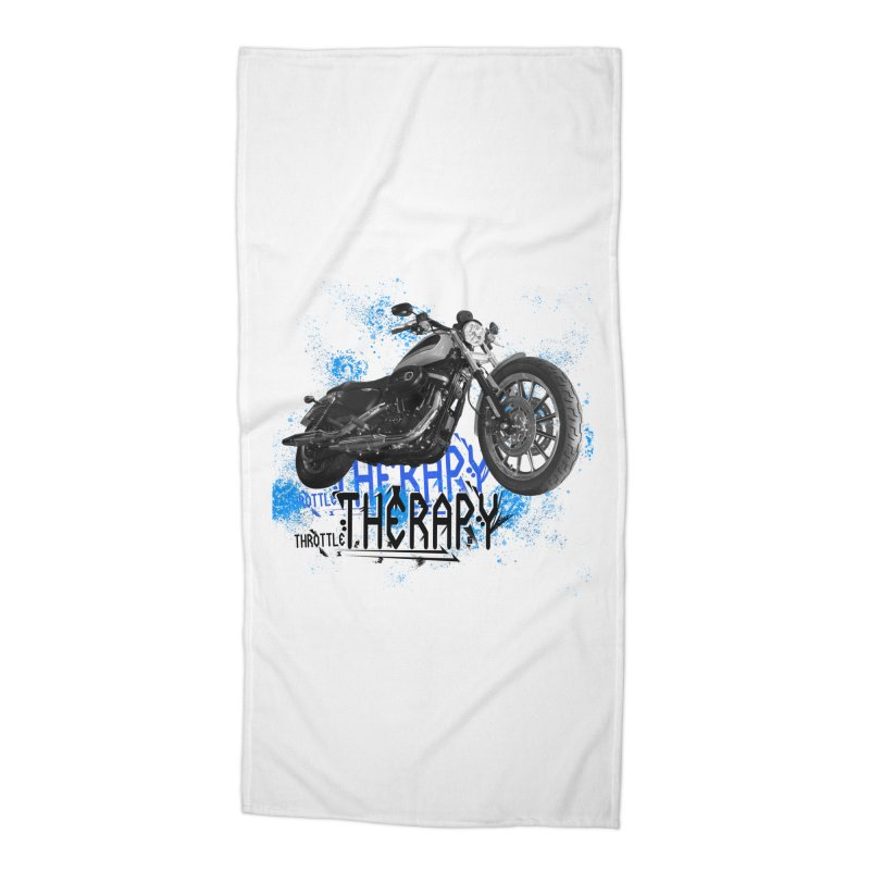 THROTTLE THERAPY CYBER BLUE Accessories Beach Towel by ExploreDaily's Artist Shop