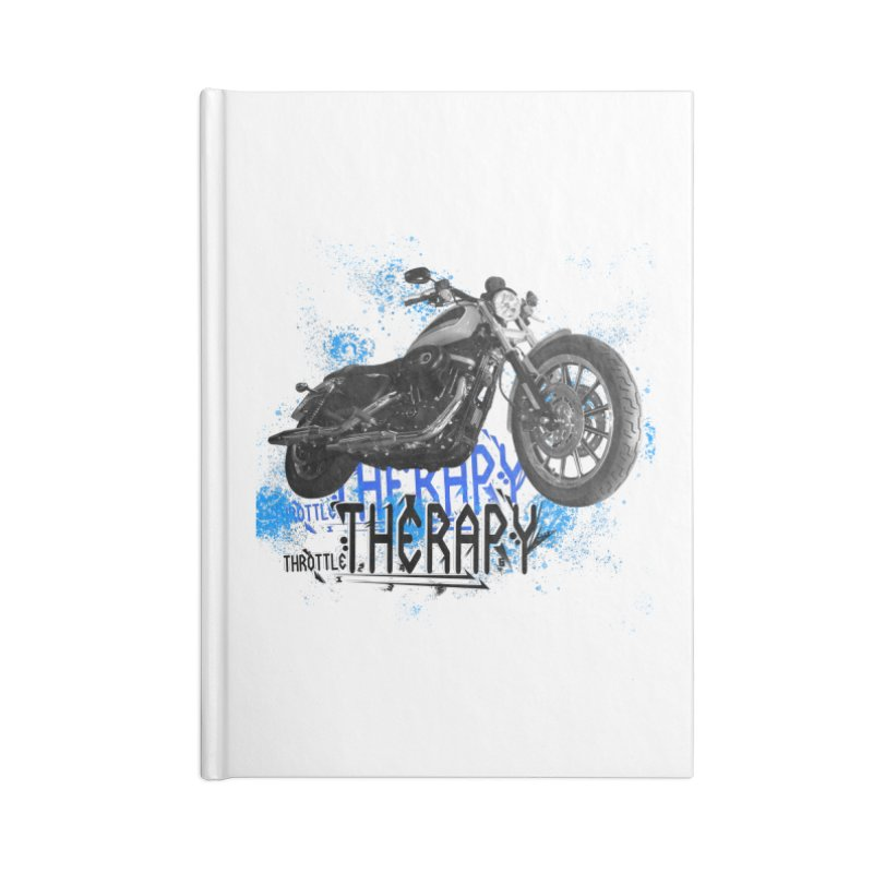 THROTTLE THERAPY CYBER BLUE Accessories Lined Journal Notebook by ExploreDaily's Artist Shop