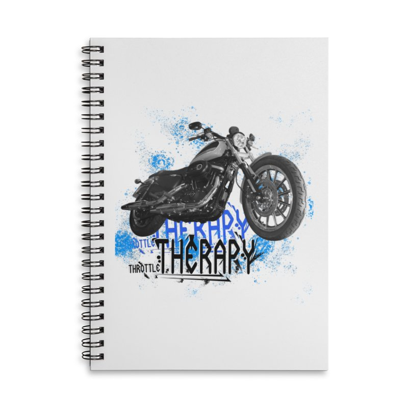 THROTTLE THERAPY CYBER BLUE Accessories Lined Spiral Notebook by ExploreDaily's Artist Shop