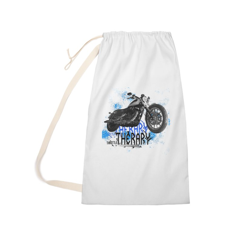 THROTTLE THERAPY CYBER BLUE Accessories Laundry Bag Bag by ExploreDaily's Artist Shop