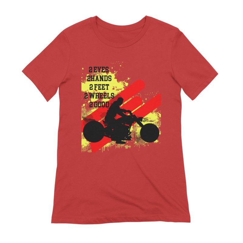 2 EYES 2 HANDS 2 FEET 2 GOOD JERKSTUNTS Women's Extra Soft T-Shirt by ExploreDaily's Artist Shop