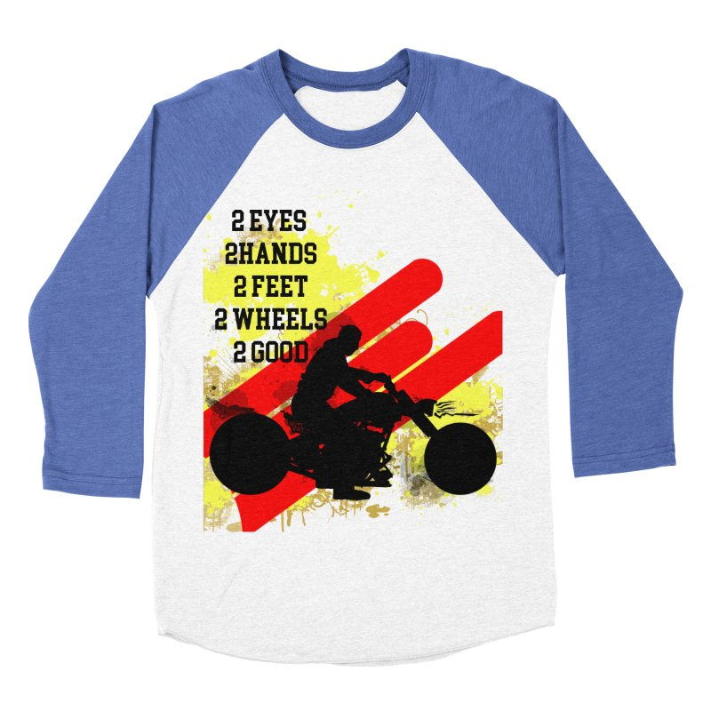 2 EYES 2 HANDS 2 FEET 2 GOOD JERKSTUNTS Women's Baseball Triblend Longsleeve T-Shirt by ExploreDaily's Artist Shop
