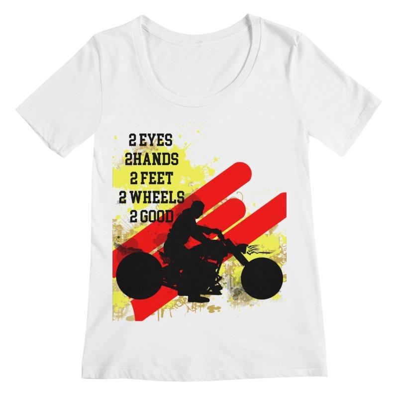 2 EYES 2 HANDS 2 FEET 2 GOOD JERKSTUNTS Women's Regular Scoop Neck by ExploreDaily's Artist Shop